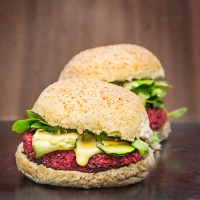 Quinoa, Beetroot and Date Burger