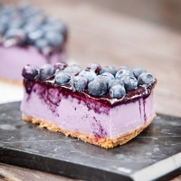 No Bake Blueberry Tart