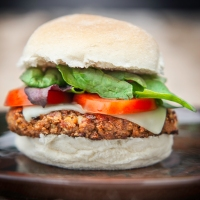 Very 'Meaty' Vegan Mozzarella Burgers