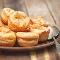 Homemade Yorkshire Puddings. Vegan and Gluten Free