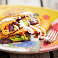 Chickpea Flour Pancakes with Plantain