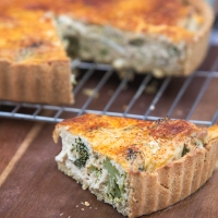 Roasted Fennel and Broccoli Quiche