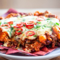 Sweet Potato and Three Bean Nachos