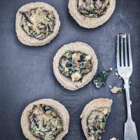 Whole Wheat Mushroom and Kale Tartlets