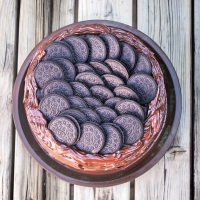 Four Layer Vegan Chocolate Oreo Cake
