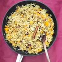Butternut Squash and Date Pilau